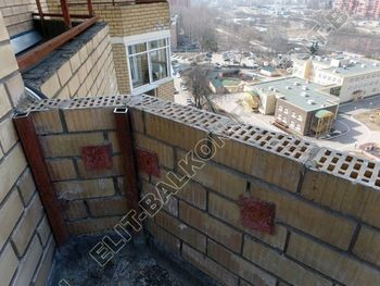 osteklenie balkona PVH s kryshej 32 387x291 - Фото остекления балкона № 47