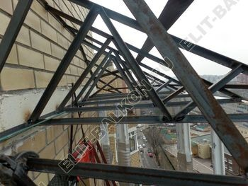 osteklenie balkona PVH s kryshej 39 387x291 - Фото остекления балкона № 47