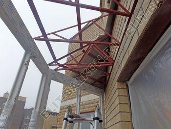 osteklenie balkona PVH s kryshej 46 387x291 - Фото остекления балкона № 47