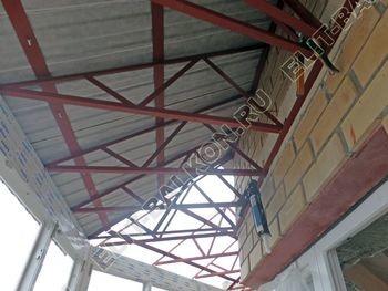 osteklenie balkona PVH s kryshej 47 387x291 - Фото остекления балкона № 47