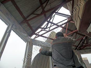 osteklenie balkona PVH s kryshej 48 387x291 - Фото остекления балкона № 47