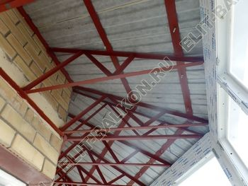 osteklenie balkona PVH s kryshej 54 387x291 - Фото остекления балкона № 47