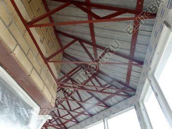 osteklenie balkona PVH s kryshej 55 387x291 - Фото остекления балкона № 47
