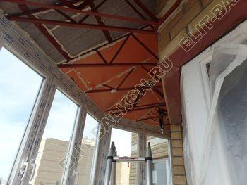 osteklenie balkona PVH s kryshej 57 387x291 - Фото остекления балкона № 47