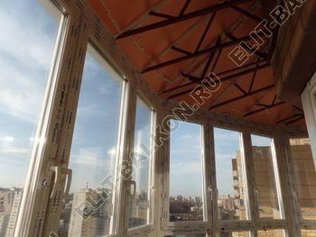 osteklenie balkona PVH s kryshej 59 387x291 - Фото остекления балкона № 47
