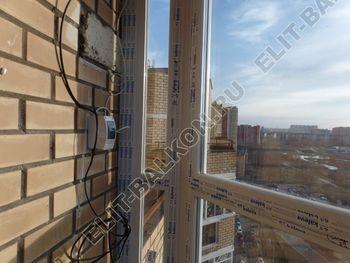 osteklenie balkona PVH s kryshej 61 387x291 - Фото остекления балкона № 47