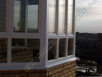 osteklenie balkona PVH s kryshej 65 387x291 - Фото остекления балкона № 47