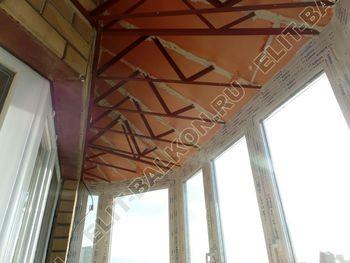 osteklenie balkona PVH s kryshej 67 387x291 - Фото остекления балкона № 47