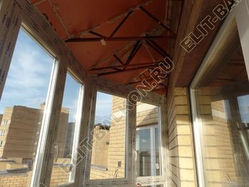 osteklenie balkona PVH s kryshej 68 387x291 - Фото остекления балкона № 47