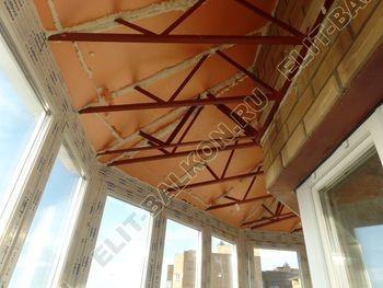 osteklenie balkona PVH s kryshej 69 387x291 - Фото остекления балкона № 47