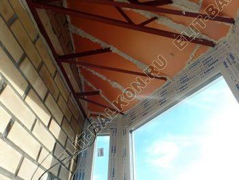 osteklenie balkona PVH s kryshej 70 387x291 - Фото остекления балкона № 47