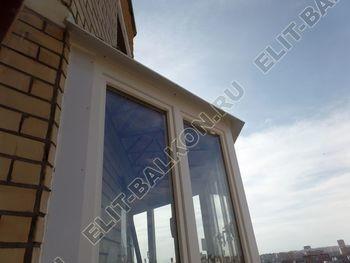 osteklenie balkona PVH s kryshej 74 387x291 - Фото остекления балкона № 47