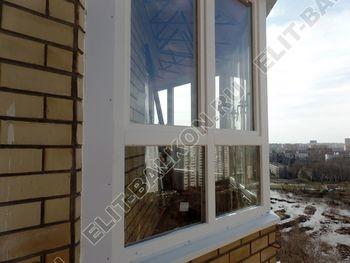 osteklenie balkona PVH s kryshej 75 387x291 - Фото остекления балкона № 47