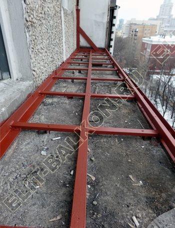 osteklenie lodzhii PVH ot pola do potolka s ukrepleniem plity 10 387x291 - Фото остекления балкона № 48