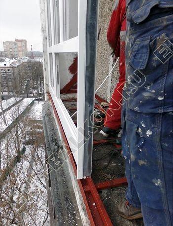osteklenie lodzhii PVH ot pola do potolka s ukrepleniem plity 13 387x291 - Фото остекления балкона № 48
