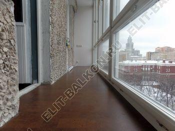osteklenie lodzhii PVH ot pola do potolka s ukrepleniem plity 21 387x291 - Фото остекления балкона № 48