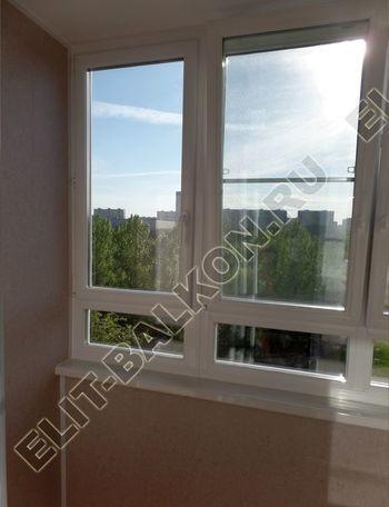 osteklenie lodzhii PVH s kryshej i vnutrennej otdelkoj 7 387x291 - Фото остекления балкона № 51