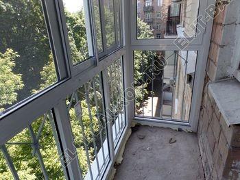 osteklenie balkona s rigeljami aljuminiem 15 387x291 - Фото остекления балкона № 57