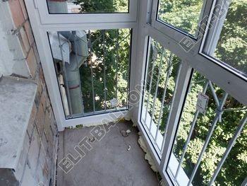 osteklenie balkona s rigeljami aljuminiem 8 387x291 - Фото остекления балкона № 57