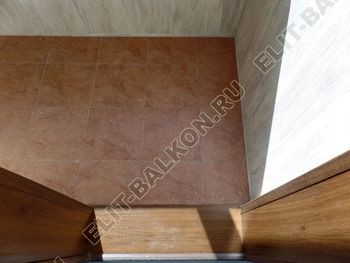 otdelka teplogo balkona osteklenie PVH s laminatsiej 1 387x291 - Фото остекления балкона № 60