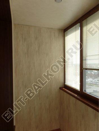 otdelka teplogo balkona osteklenie PVH s laminatsiej 13 387x291 - Фото остекления балкона № 60
