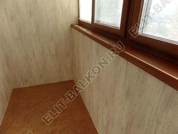 otdelka teplogo balkona osteklenie PVH s laminatsiej 27 387x291 - Фото остекления балкона № 60
