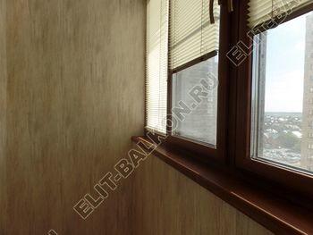 otdelka teplogo balkona osteklenie PVH s laminatsiej 28 387x291 - Фото остекления балкона № 60