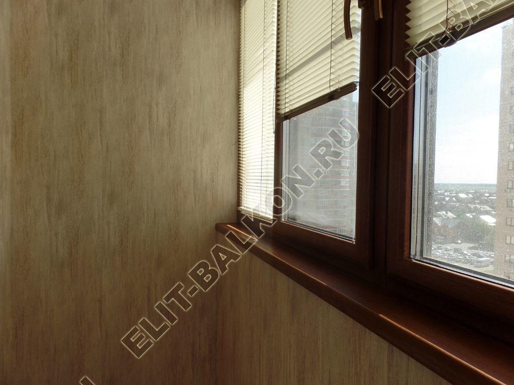 otdelka teplogo balkona osteklenie PVH s laminatsiej 28 - Отделка балкона стеновыми панелями МДФ