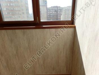 otdelka teplogo balkona osteklenie PVH s laminatsiej 3 387x291 - Фото остекления балкона № 60