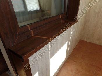 otdelka teplogo balkona osteklenie PVH s laminatsiej 31 387x291 - Фото остекления балкона № 60