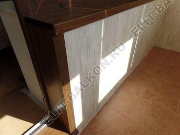 otdelka teplogo balkona osteklenie PVH s laminatsiej 32 387x291 - Фото остекления балкона № 60