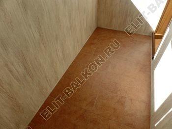 otdelka teplogo balkona osteklenie PVH s laminatsiej 33 387x291 - Фото остекления балкона № 60
