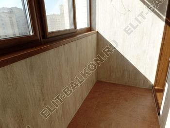otdelka teplogo balkona osteklenie PVH s laminatsiej 34 387x291 - Фото остекления балкона № 60