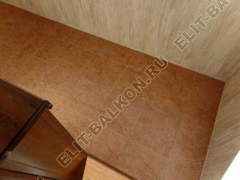 otdelka teplogo balkona osteklenie PVH s laminatsiej 8 387x291 - Фото остекления балкона № 60
