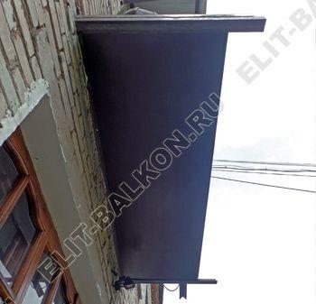 ukreplenie balkona vneshnjaja otdelka montazh novoj kryshi 11 387x291 - Фото остекления балкона № 59