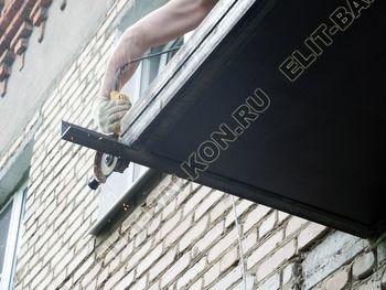 ukreplenie balkona vneshnjaja otdelka montazh novoj kryshi 12 387x291 - Фото остекления балкона № 59