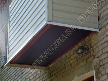 ukreplenie balkona vneshnjaja otdelka montazh novoj kryshi 27 387x291 - Фото остекления балкона № 59