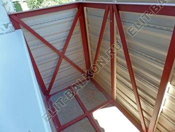 ukreplenie balkona vneshnjaja otdelka montazh novoj kryshi 29 387x291 - Фото остекления балкона № 59