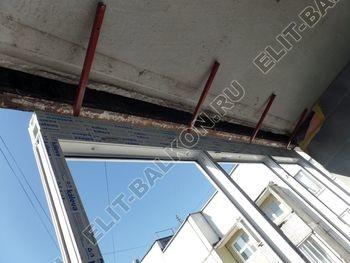 osteklenie dvuh lodzhij PVH s montazhom kryshi 12 387x291 - Фото остекления балконного блока № 70
