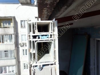 osteklenie dvuh lodzhij PVH s montazhom kryshi 13 387x291 - Фото остекления балконного блока № 70