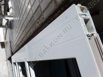 osteklenie dvuh lodzhij PVH s montazhom kryshi 15 387x291 - Фото остекления балконного блока № 70