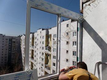osteklenie dvuh lodzhij PVH s montazhom kryshi 16 387x291 - Фото остекления балконного блока № 70