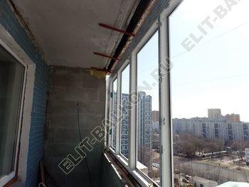 osteklenie dvuh lodzhij PVH s montazhom kryshi 18 387x291 - Фото остекления балконного блока № 70