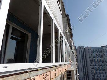 osteklenie dvuh lodzhij PVH s montazhom kryshi 19 387x291 - Фото остекления балконного блока № 70
