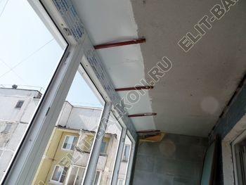 osteklenie dvuh lodzhij PVH s montazhom kryshi 21 387x291 - Фото остекления балконного блока № 70