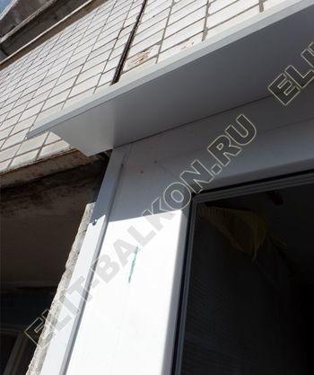 osteklenie dvuh lodzhij PVH s montazhom kryshi 25 387x291 - Фото остекления балконного блока № 70