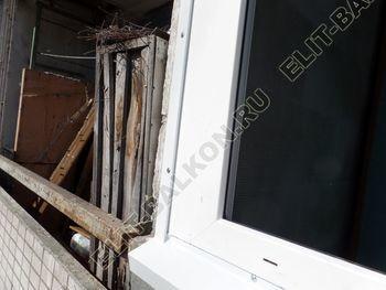 osteklenie dvuh lodzhij PVH s montazhom kryshi 26 387x291 - Фото остекления балконного блока № 70