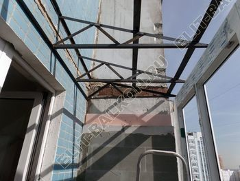 osteklenie dvuh lodzhij PVH s montazhom kryshi 33 387x291 - Фото остекления балконного блока № 70