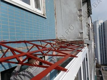 osteklenie dvuh lodzhij PVH s montazhom kryshi 34 387x291 - Фото остекления балконного блока № 70