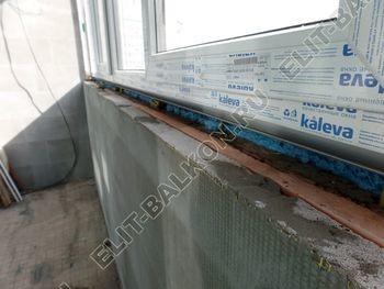 osteklenie dvuh lodzhij PVH s montazhom kryshi 38 387x291 - Фото остекления балконного блока № 70